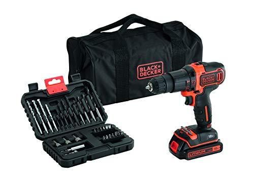 Black + Decker BDCHD18S32-QW Schlagbohrmaschine kabellos, 18 V, Orange, 2 Stück