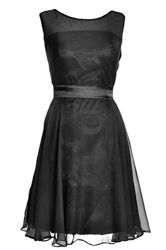 MACloth - Robe - Trapèze - Femme Noir - Noir