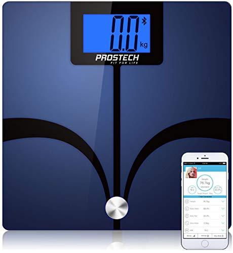 Intelligente Waagen - Bluetooth Körperfett Analyser. Nicht zu klein (32,5cm). Kompatibel mit Apple Health für iPhone & Android-Geräte. Überwachen Sie Ihren Gewichtsverlust mit Hilfe dieser Fitbit Kompatibel Personenwaage