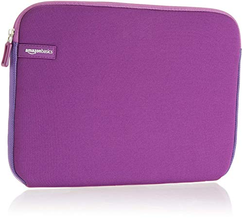 AmazonBasics 11.6-inch Laptop Sleeve - Internal Dimensions -11 X 0.4 X 8.5 Inches - Purple