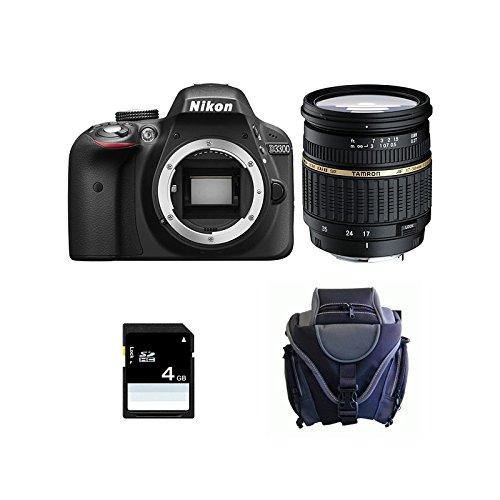 Nikon D3300+ TAMRON 17-50XR Di II LD + SD 4GB KIT D Kamera SLR 3000MP CMOS 6000x 4000pixels schwarz-Digitalkameras (24,2MP, 6000x 4000Pixel, CMOS, Full HD, 410g, schwarz) - Nikon D 3000 Kit