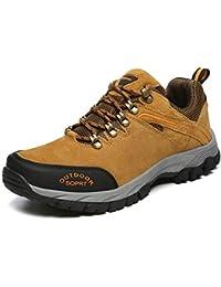 GOMNEAR Männer Wanderschuhe Leichte Outdoor-Klettern Trekking Stiefel  Atmungsaktive Low-Top-Casual Winddicht b18d363449