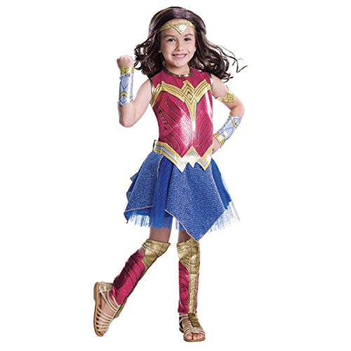 Nihiug Batman Superman Gerechtigkeit Dawn Wonder Woman Kind Halloween Cosplay Kostüm Corpse Kürbis Subdue Temptation Secret,A (Passende Wonder Woman Kostüm)