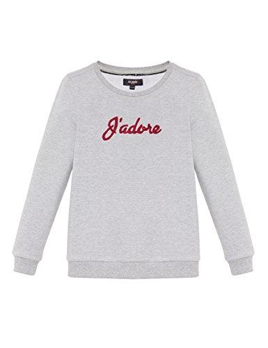 COLORADO DENIM Mädchen Sweatshirt Indira, Grau (Grey Mel 9128), 140 (Herstellergröße: 134/140) (Sweatshirt Colorado Grau)