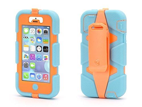 Griffin Survivor fluoro Custodia per Apple Iphone 5turchese/Orange