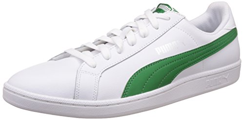 Puma-Smash-L-Sneaker-Unisex-Adulto-Bianco-Puma-White-Amazon-Green-22-43-EU