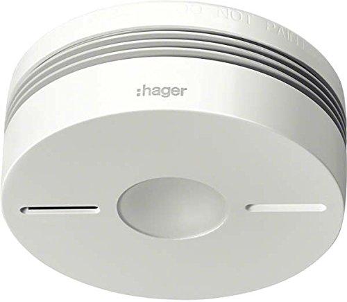 Hager TG551A Funk-Dualwarnmelder Komfort Q weiß m.IR-Alarmstopp