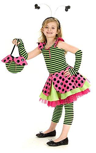 Princess Paradise Kinder Mädchen Marienkäfer Lady Bug Kostüm + Handtasche (Mädchen Lady Bug Kostüme)