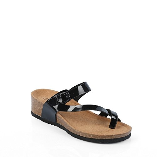 Ideal Shoes Nu-Pieds Style orthopédique Kahina