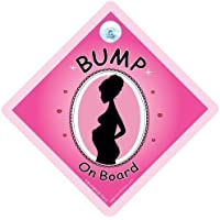 Bump on Board segnale Auto, Bump on Board, Bump on Board segnale, rosa, baby on Board Sign Style, MUM to be Sign, baby on Board, baby on Board Sign Style, maternità, Pregnanacy, decalcomania, adesivo paraurti