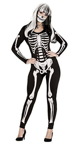 Imagen de disfraz o mono de esqueleto para mujer