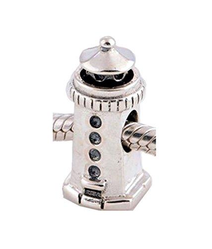 Dogs Stars Leuchtturm - Damen Bead - passend für Pandora Schmuck oder ähnlichem - 100% 925 Sterling Silber