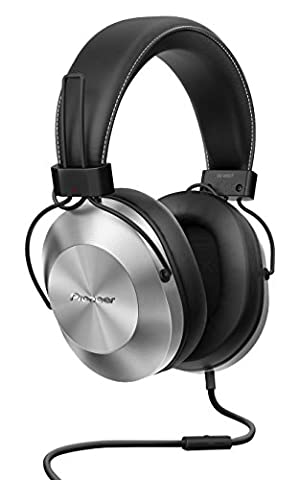 Pioneer SE-MS5T-S Over Ear Headphones with In-Line Microphone - Silver