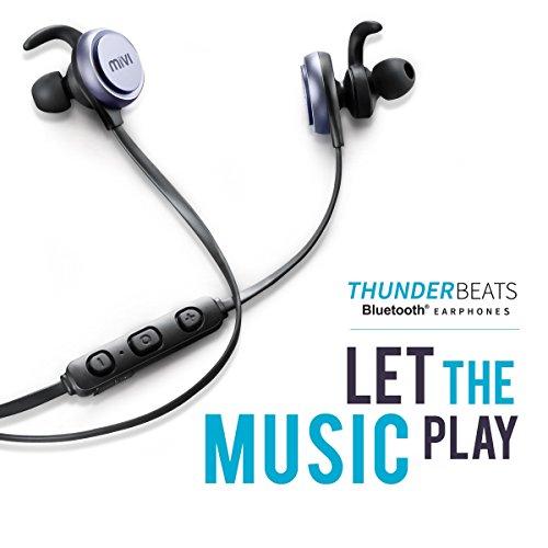 515389f690f 60% OFF on Mivi Thunder Beats Wireless Bluetooth Earphones with Stereo  Sound and Hands-Free Mic (Gun Metal) on Amazon | PaisaWapas.com
