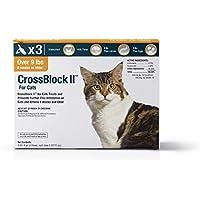 WIM Crossblock II pulga preventivo para Gatos de más de 9 Libras. (3 Paquetes)