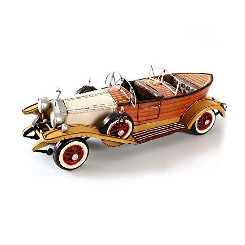 KKD Scale-Modellfahrzeuge Brown Modell Auto TV Hintergrund Wanddekoration Schmuck Schmuckstück Retro Oldtimer 1932 Rolls-Royce Phantom Grün Mini Fahrzeuge (Color : BROWN) - Rolls-royce Phantom Modell