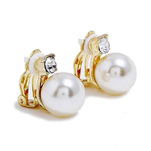 Bodbii 1 perla cristal pair pendientes clip mujeres