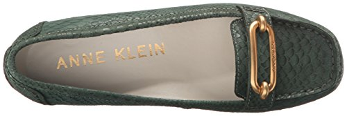 Anne Klein Noris Damen Rund Leder Slipper Med Green