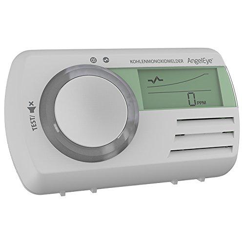 AngelEye CO Melder 7Jahre Batterie Kohlenmonoxidwarnmelder mit multifunktionalem LCD-Display +...