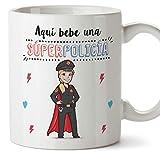 MUGFFINS policía. Tazas Originales de café y Desayuno para Regalar a Trabajadores Profesionales - AQUÍ Bebe...