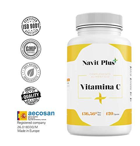 Vitamina C 1000 mg NAVIT PLUS. Suplemento nº1 en Vitamina C pura. Desarrollado y...