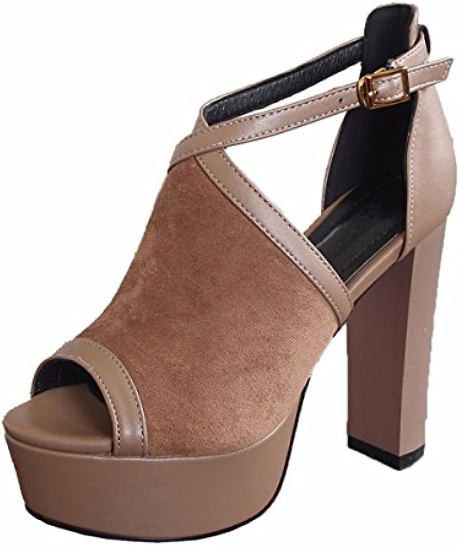 kphy kphy kphy summer des chaussures pour femmes / sandales à talons épaisses boucles des talons de 12 cm été plates formes étanches poisson bouches...b07f88grj9 parent 278551