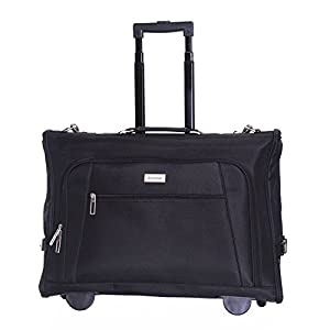 Slimbridge Hem Wheeled Tri-Fold Cabin Approved Suit Carrier from Karabar Ltd