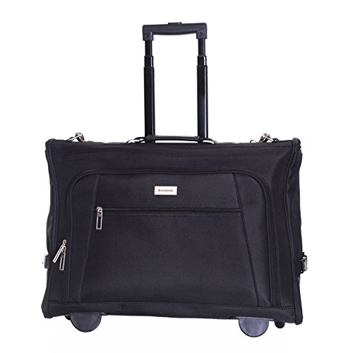 Slimbridge Hem Wheeled Tri-Fold Cabin Suit Carrier, Black