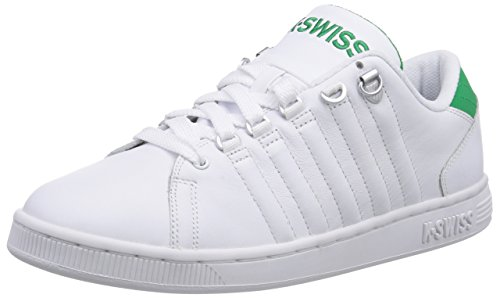 K-Swiss LOZAN III, Low-Top Sneaker uomo, Bianco (Weiß (WHITE/JOLLY GREEN 108)), 44