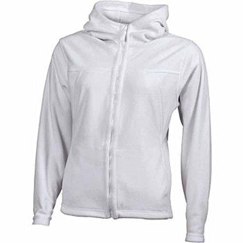 JAMES&NICHOLSON - veste gilet polaire à capuche- JN146 - FEMME Blanc