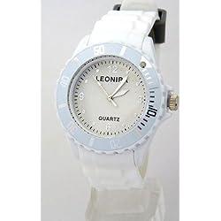 Nerd® Leonira Uhr in Weiß/Grau BU43