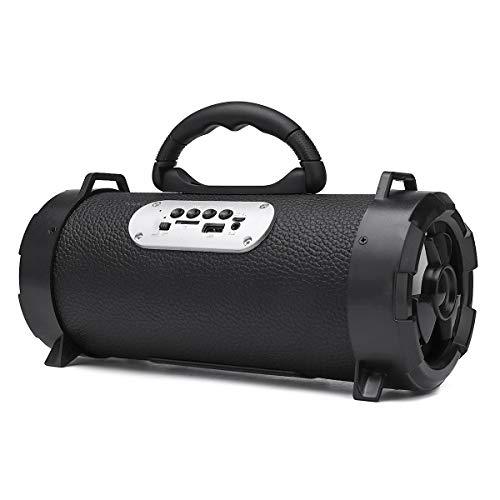 ExcLent Tragbare Drahtlose Bluetooth-Lautsprecher Schultergurt Blitzlicht Tf Fm Radio Usb - Bunte Grenze
