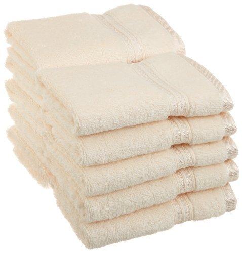 Collection 100% Coton peigné à Fibres Longues Serviette de Visage Lot de 10 pièces de qualité supérieure, Ivoire en qualité supérieure