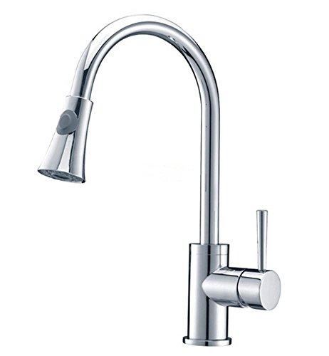 MNII ottone monocomando pull down rubinetto della cucina con retrattile Pull Out (Pull Down Wand)
