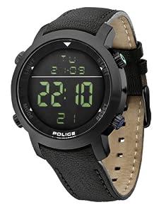 Reloj de caballero Police Cyber 12898JS/02D de cuarzo, correa de piel color negro de Police