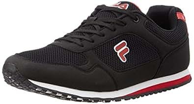 Fila Men's Bastiano Black and Red Sneakers -7 UK/India (41 EU) (11003128)