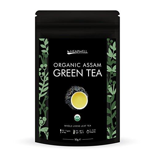 Bio Grüner Tee Loose Leaf | PREMIUM QUALITÄT aus dem Himalaya | Erste Ernte Handgerollte Blätter | Perfekt für die Herstellung von Kombucha | Ideal für Gewichtsabnahme, Entgiftung und Abnehmen