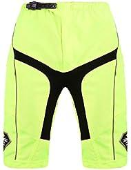 Santic Bicicleta hombres Shorts extraíble 3D 1/2 pantalones anchos acolchados