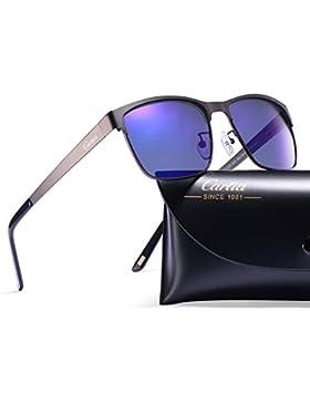 Carfia Gafas de Sol Polarizadas Hombre para Conducción Viaje y Aire Libre-Marco Metal