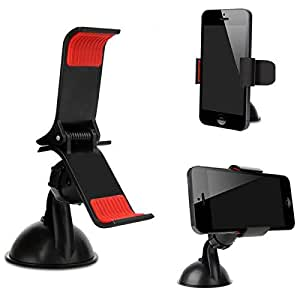 Case Supportive Clip On Grip 360¡ Windshield Windscreen Mini Car Mount Adjustable Rotatable Claw Holder Stand Cradle For SAMSUNG GALAXY POCKET S5300 Android Mobile Cellular Cell Phone