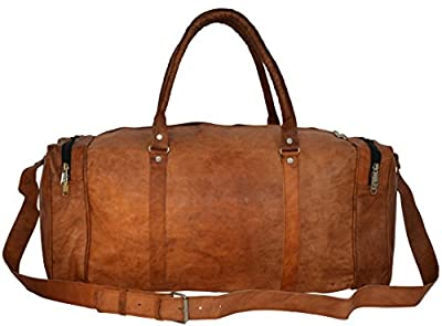 "Gusti Cuir nature ""Harvey"" bagage à main sac de voyage bagage cabine sac de sport sac en bandoulière sac en cuir besace cabas en cuir marron R27b"
