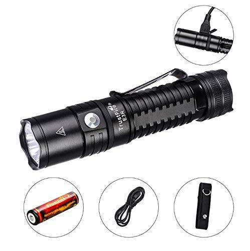 TrustFire E3R Wiederaufladbare LED-Taschenlampe 1000 Lumen EDC Micro-USB-Ladetaschenlampe 4 Modi Hoch/Mittel/Niedrig/Strobe, Indoor/Outdoor (Camping, Wandern und Notfall)