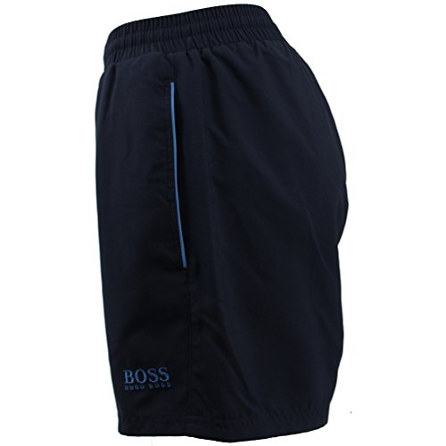 Hugo Boss Badeshorts normale Länge Herren Bade Shorts Badehosen blau rot dunkelblau 414 Navy Marine / dark blue