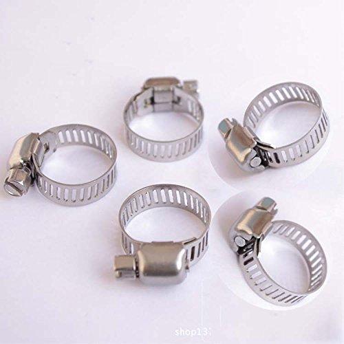Preisvergleich Produktbild 5X10mm-16mm Edelstahl-Kraftstoff-Schlauchschelle Line Pipe Clips verzinkt Schraube