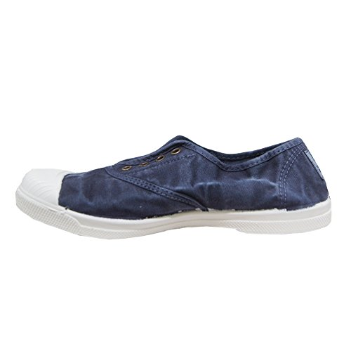 Stoff Schuh Rosa Natural World 102-E BLAU NAVY ENZI