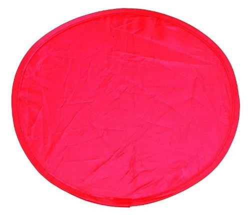 e - faltbar mit kleiner Tasche - Nylon - ideal für Hundesport - Menge frei wählbar (1, rot) (Frisbees In Der Masse)