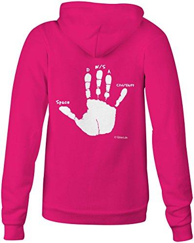 Gamer Hand ★ Confortable veste pour femmes ★ imprimé de haute qualité et slogan amusant ★ Le cadeau parfait en toute occasion pink