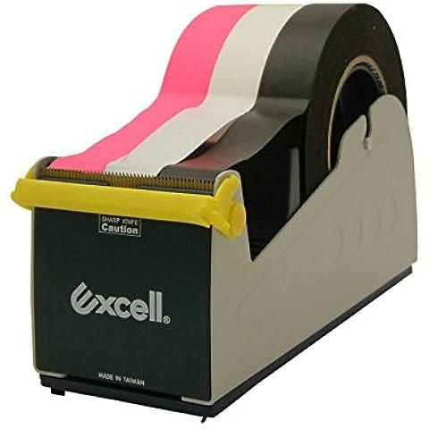 Excell Ex-17-Dispenser di nastro adesivo da scrivania, in acciaio For Tape Up To 3