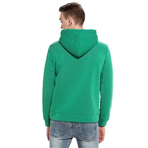ZQ@QXUomini inverno grandi tasche di individualità hoodies rivestire Green