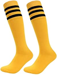Calcetines de deporte de Westeng, unisex, altos, de algodón a rayas, para